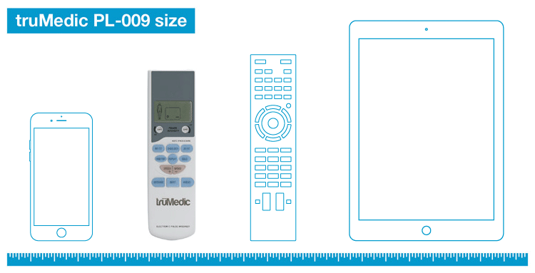 truMedic PL-009 TENS unit size
