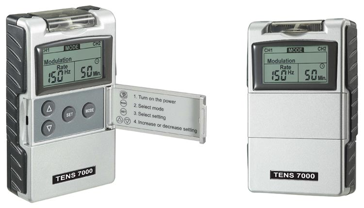 TENS 7000 portable TENS unit-size