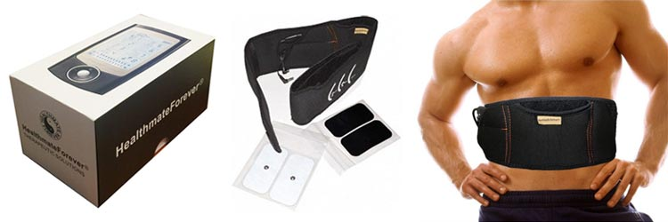 HealthmateForever Ab and Back Pain Relief Belt System including electrotherapy device