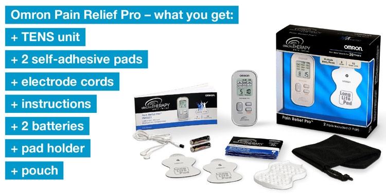 Omron Pain Relief Pro box contents
