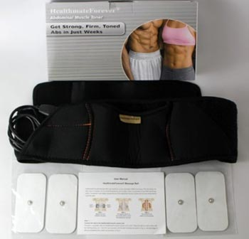 Fitness, Running & Yoga TONING ABS BELT AB TONE FRONT MUSCLE ABDOMINAL STOMACH TONR ELECTRIC MASAGER Toning Belts & Accessories