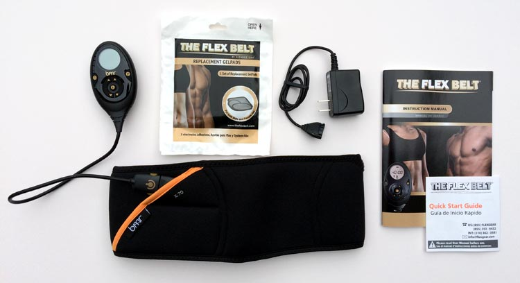 Flex Belt included accessories