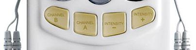 TM-1000PRO TENS unit – intensity buttons