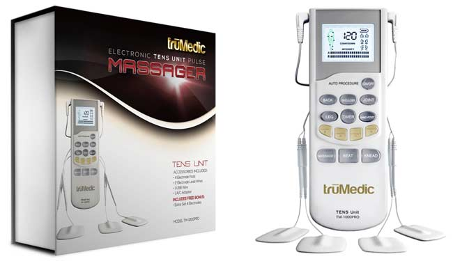 truMedic TM-1000PRO TENS unit with packaging