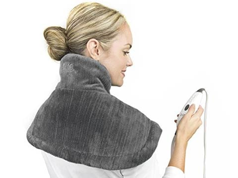 What is the best heating pad for back neck shoulder pain shaped to fit purerelief neck shoulder heating pad solutioingenieria Image collections