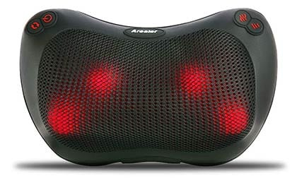Arealer Neck and Back Massager Massage Pillow with Heat