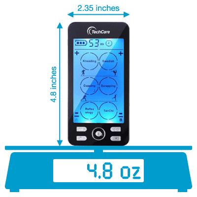 TechCare Plus 24 weighs 4.8 ounces