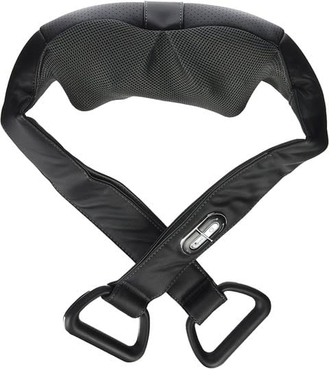 Multi-functional – Brookstone Cordless Shiatsu Neck and Back Massager with Heat