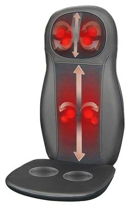 Zyllion ZMA14 Shiatsu Neck & Back Massager Cushion