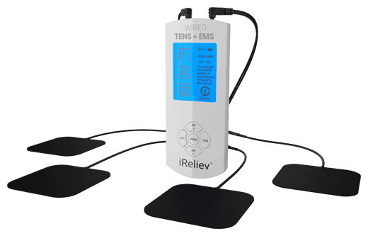 iReliev Plus TENS + EMS System – TENS Unit for Back Pain Relief
