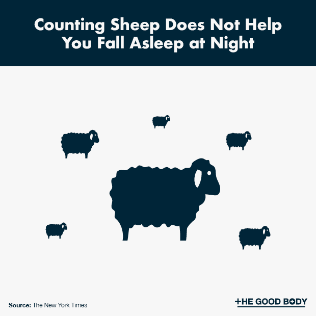 Counting sheep does not help you fall asleep at night