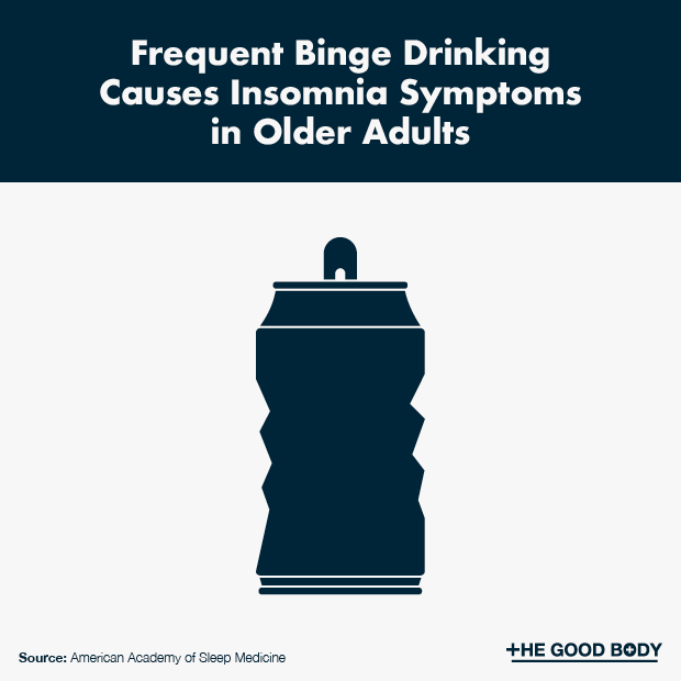 Frequent Binge Drinking Causes Insomnia Symptoms in Older Adults