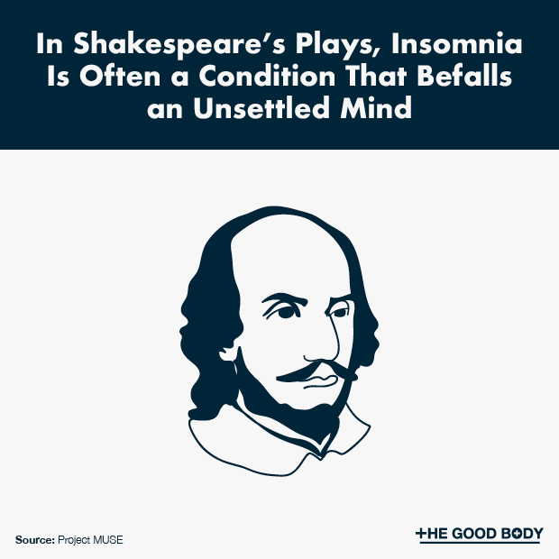 In Shakespeare's plays, insomnia is often a condition that befalls an unsettled mind
