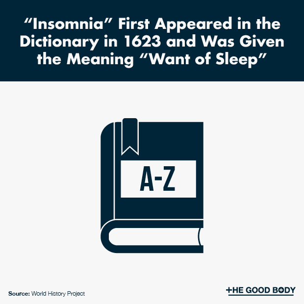 Insomnia First Appeared in the Dictionary in 1623