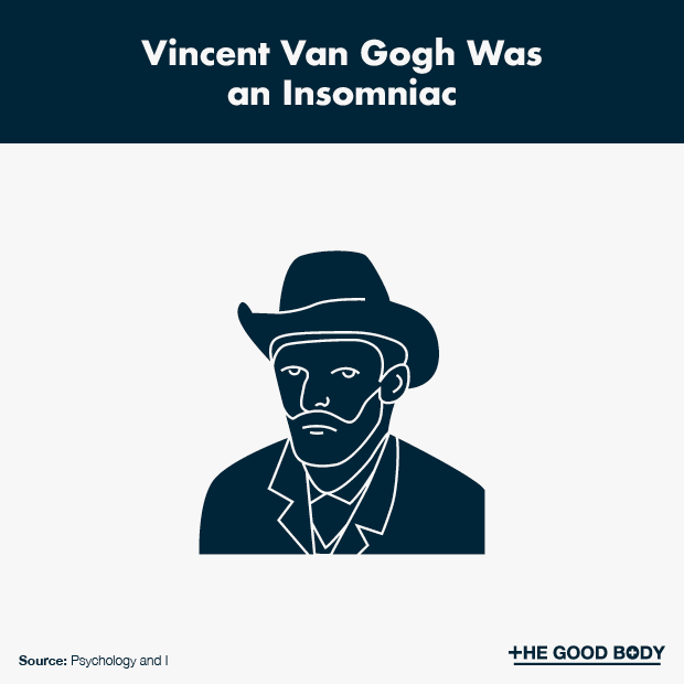 Vincent Van Gogh was an insomniac