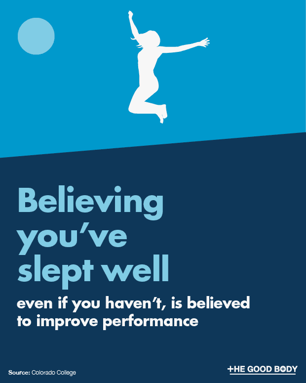 Believing you've slept well is believed to improve performance