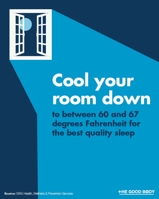 Between 60 and 67 degrees Fahrenheit is the optimal room temperature for sleep