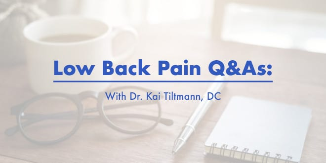 Low Back Pain Q&As
