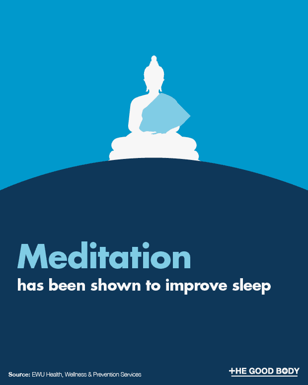 Meditation has been shown to improve quality of sleep