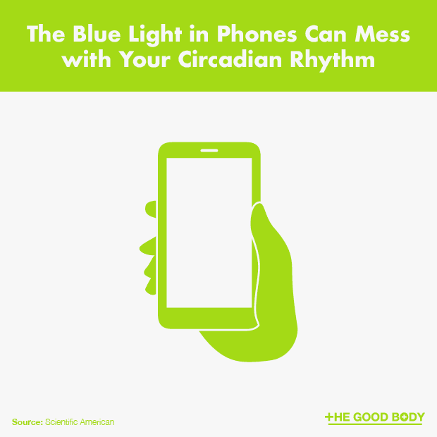 The Blue Light in Phones Can Mess with Your Circadian Rhythm