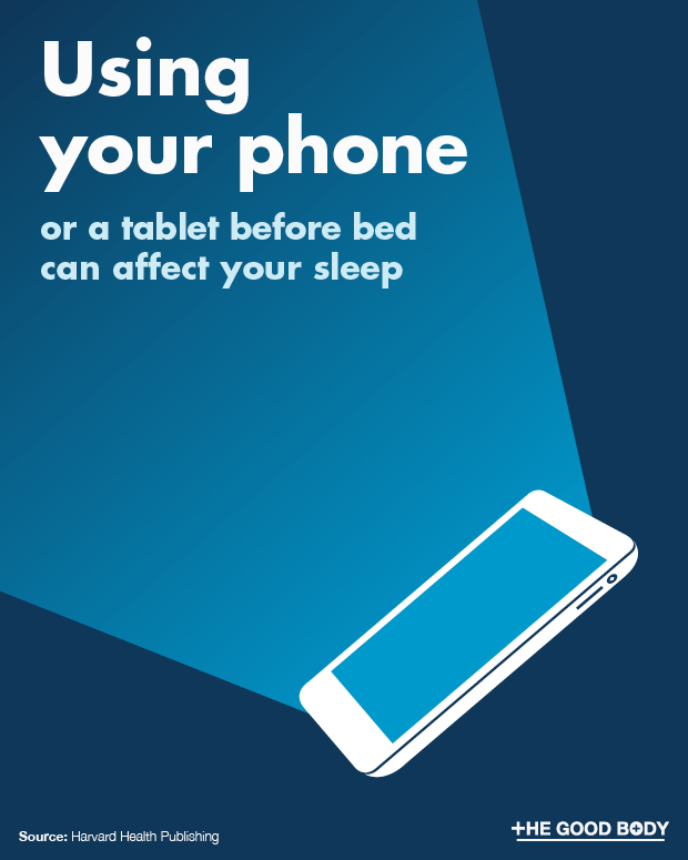 Phone or tablet usage before bed can impact on your sleep