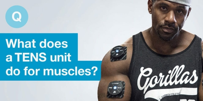 What does a TENS unit do for muscles