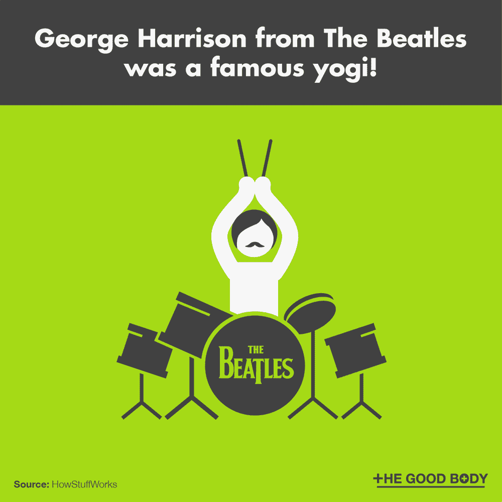 George Harrison from The Beatles was a famous yogi