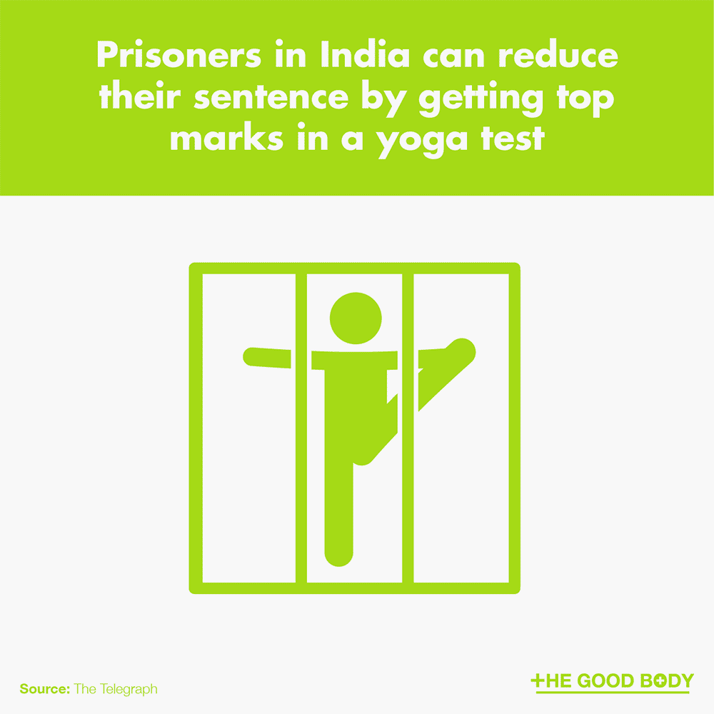 Prisoners in India can reduce their sentence by getting top marks in a yoga test