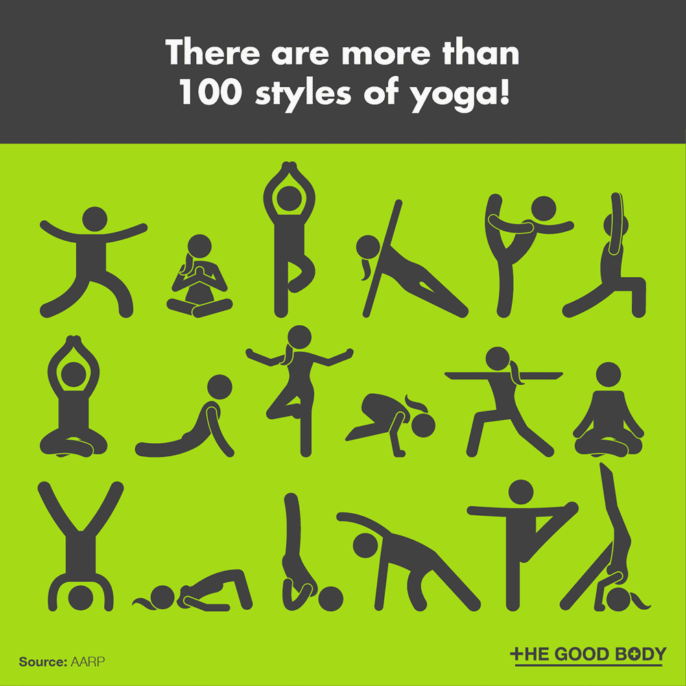 There are more than 100 styles of yoga!