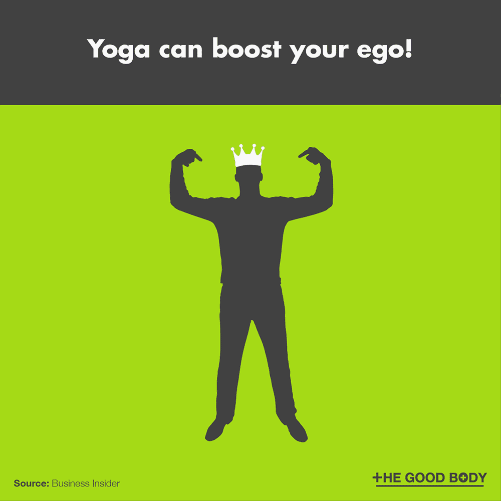 Yoga can boost your ego!