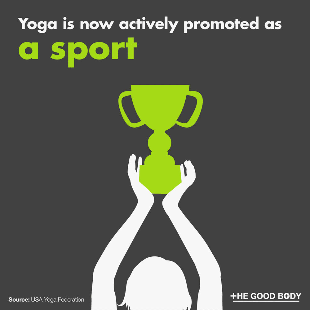 Yoga is now actively promoted as a sport