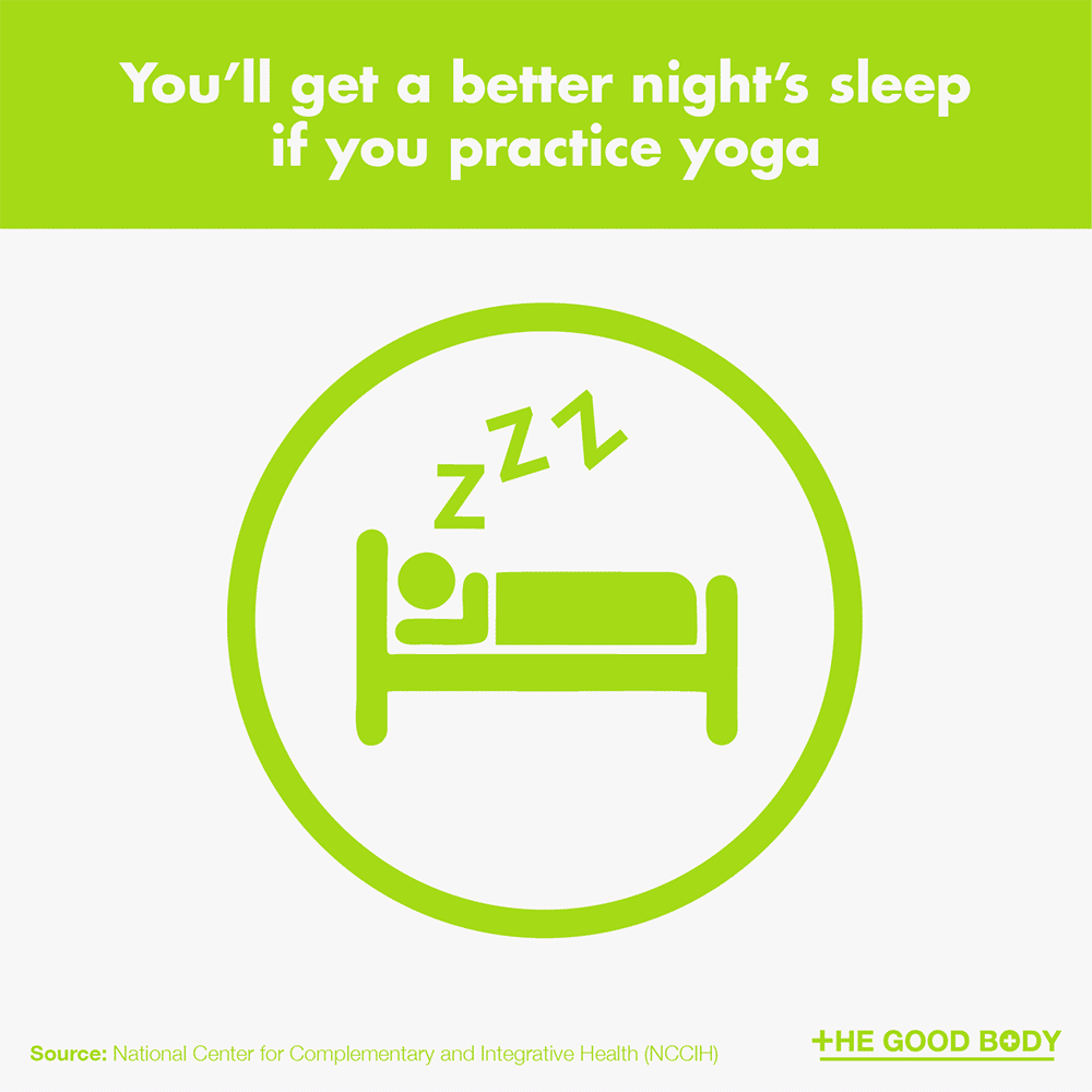 You'll get a better night's sleep if you practice yoga