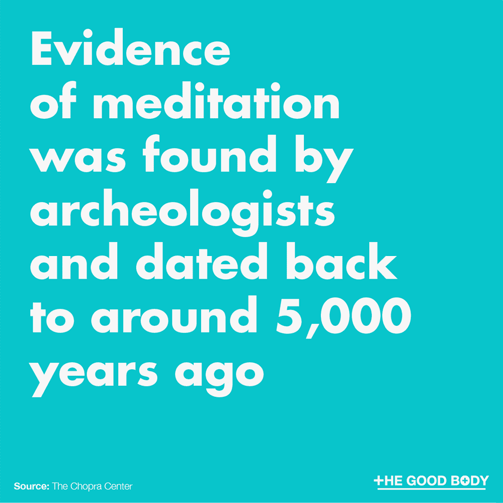 Evidence of meditation was found by archeologists and dated back to around 5,000 years ago