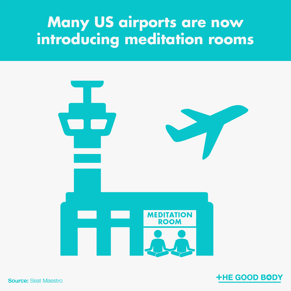 Many US airports are now introducing meditation rooms