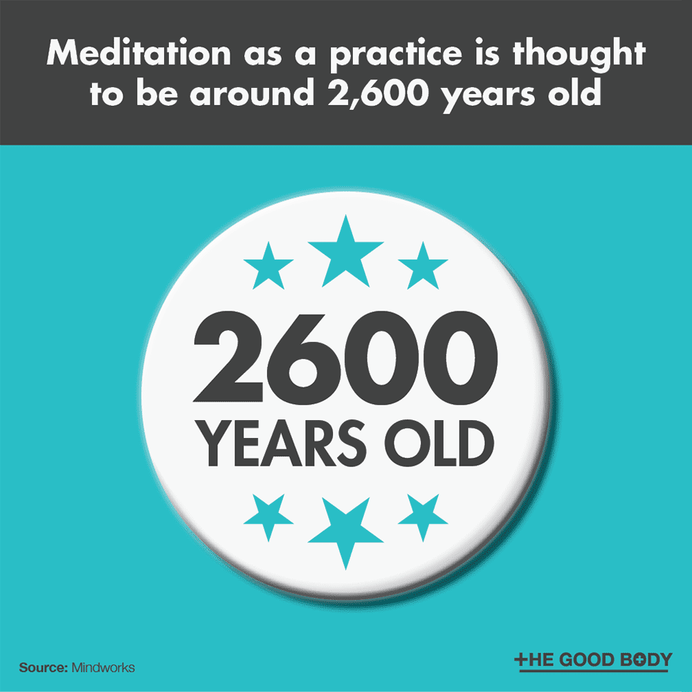 Meditation as a practice is thought to be around 2,600 years old