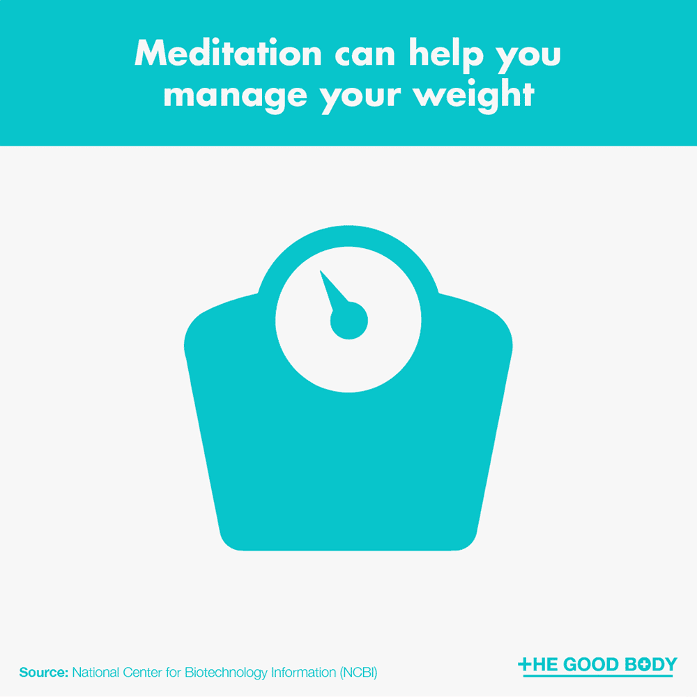 Meditation can help you manage your weight