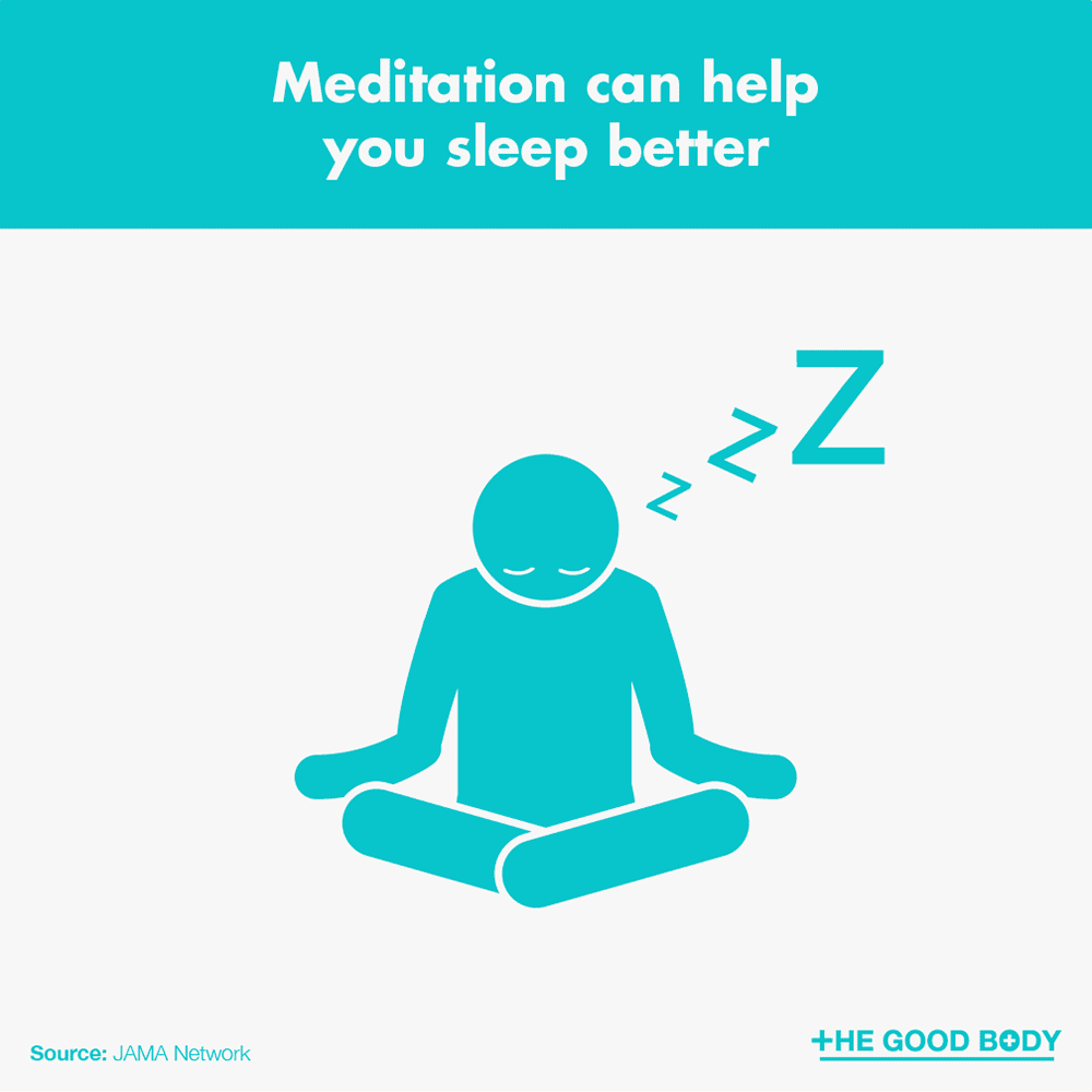 Meditation can help you sleep better