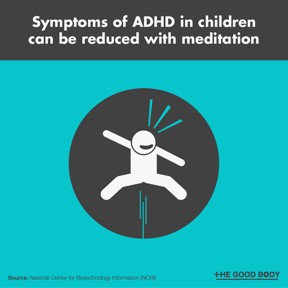 Symptoms of ADHD in children can be reduced with meditation