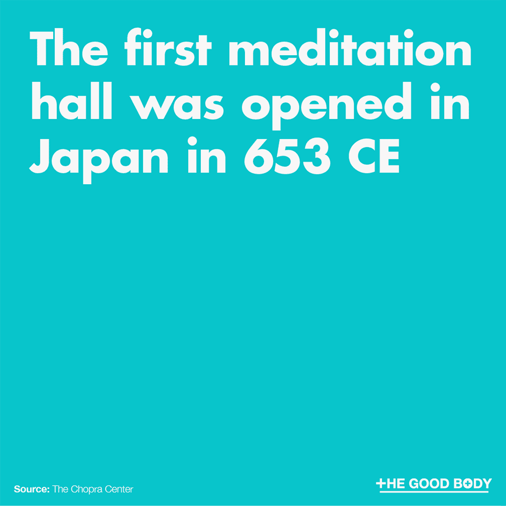 The first meditation hall was opened in Japan in 653 CE