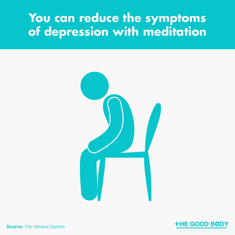 You can reduce the symptoms of depression with meditation
