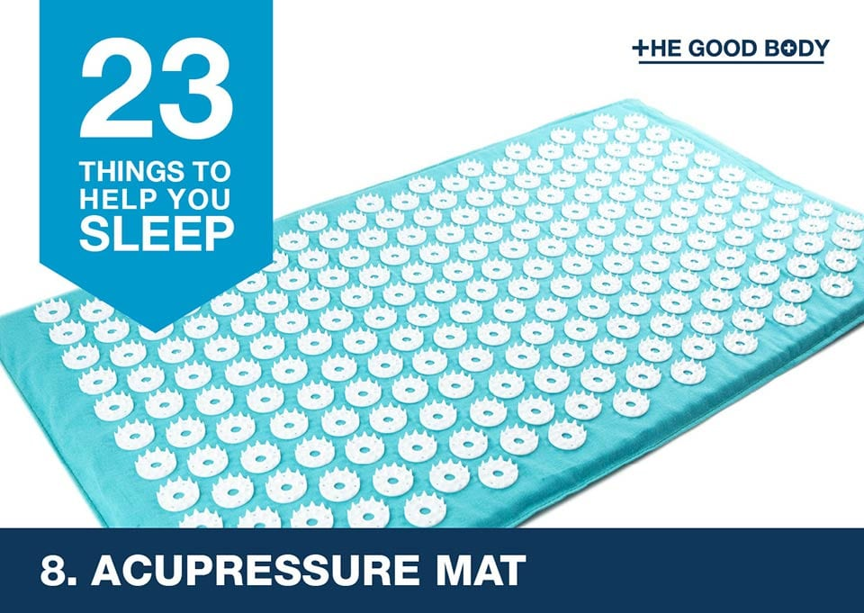 Acupressure mat to help you sleep