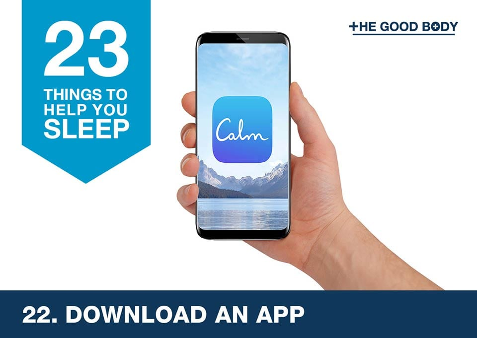 Download an app to help you sleep