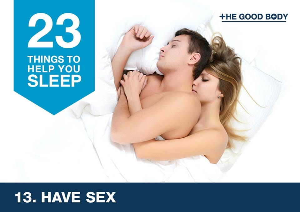 Have sex to help you sleep