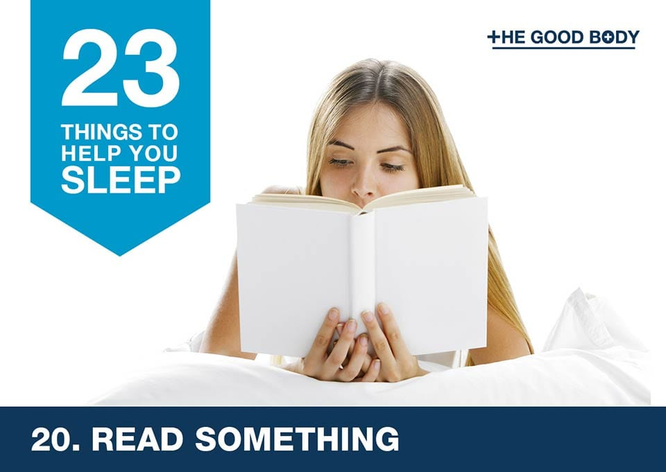 Read something to help you sleep