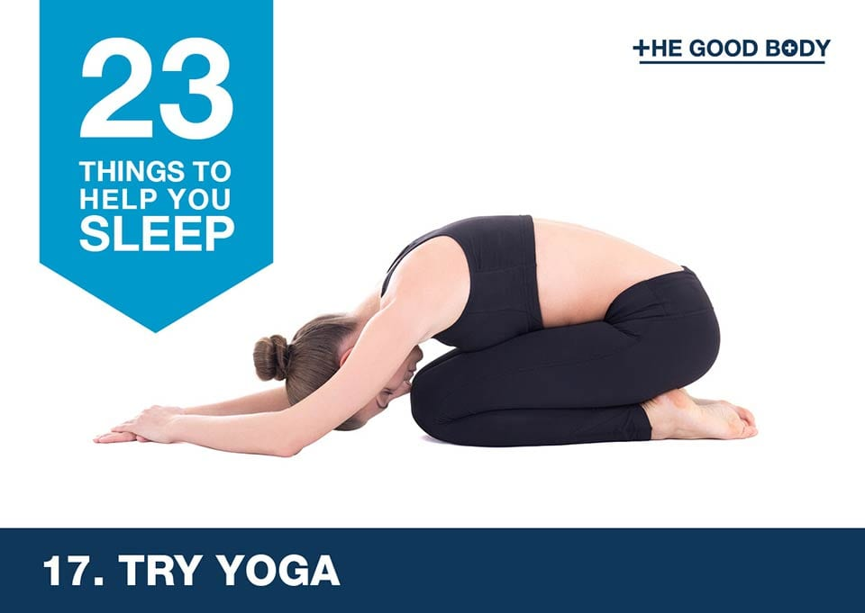 Try yoga to help you sleep