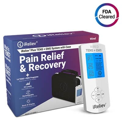 iReliev Premium TENS + EMS Pain Relief & Recovery