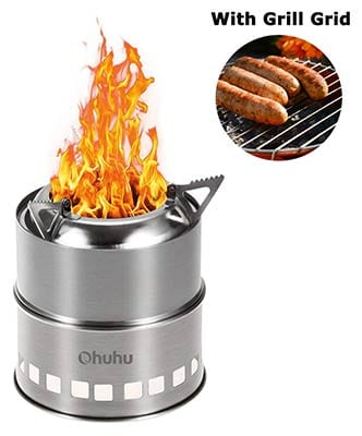 Ohuhu Stainless Steel Camping Stove