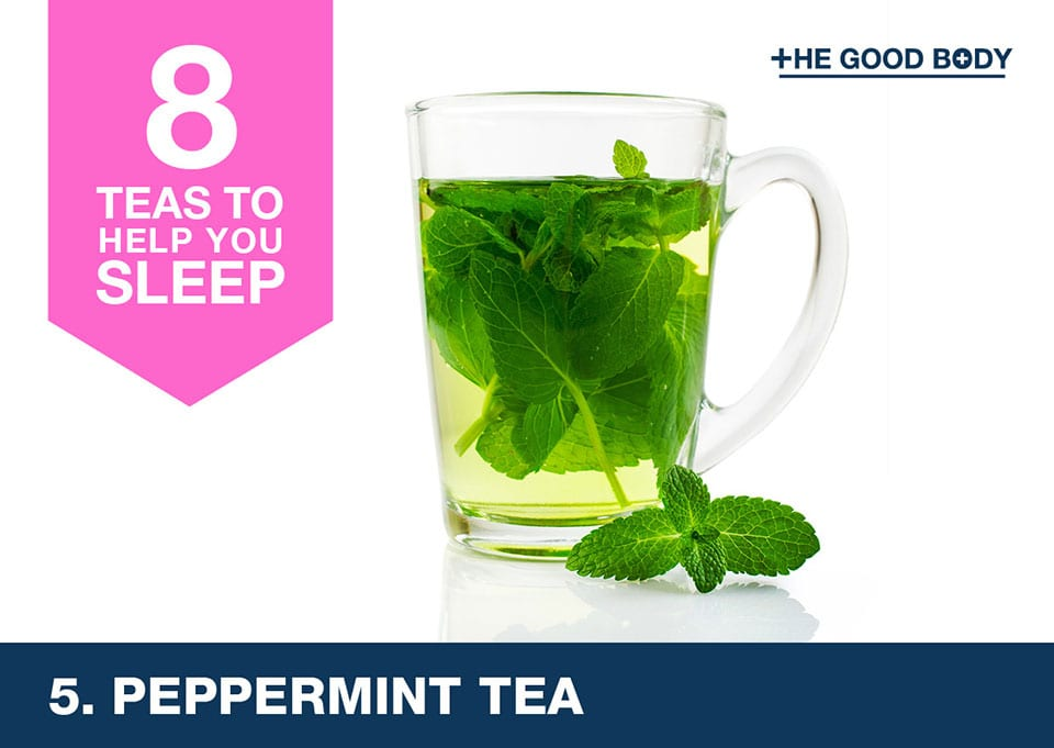 Peppermint tea to help you sleep
