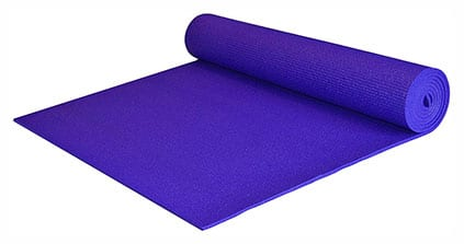 "YogaAccessories Extra Wide and Extra Long 1/4"" Deluxe Yoga Mat"