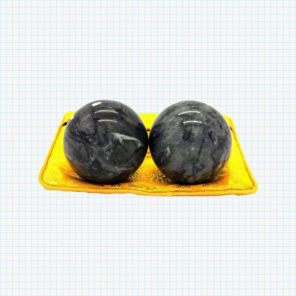 Chinese Marble Dark Grey Baoding Balls